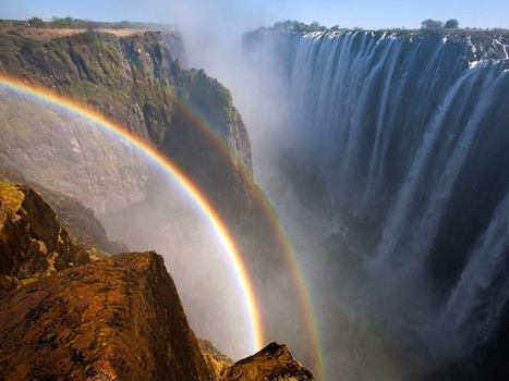 Breathtaking Rainbows Over the World's Largest Waterfall - My Modern Metropolis | Astronomy news | Scoop.it