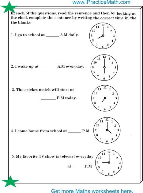 clock worksheet ipracticemaths worksheets. Black Bedroom Furniture Sets. Home Design Ideas