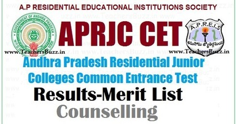 APRJC CET 2017 Results,Merit List manabadi,Een