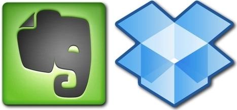 Evernote et Dropbox : Tout dans le nuage ! | Home Controls - Les ... | En remontant le temps | Scoop.it