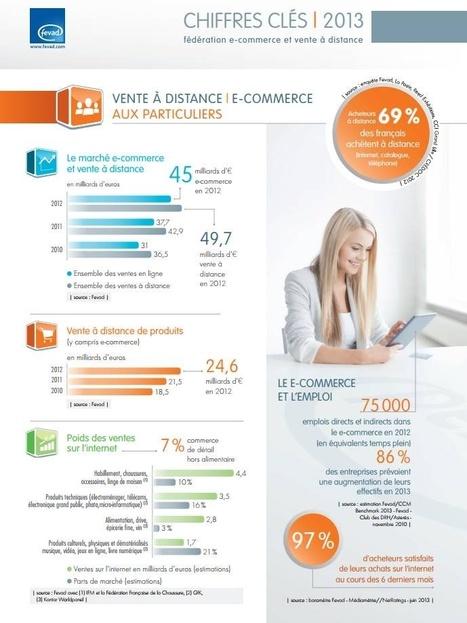 Chiffres 2013 du E-commerce en France [Infographie] | Infographies médias sociaux | Scoop.it