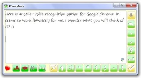 VoiceNote: Another Excellent Voice-to-Text App for Google Chrome | Free Resources from the Net for EVERY Learner | Apps for Special Education | Scoop.it