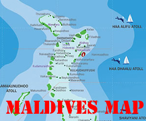 Maldives Map with States Labeled | Maldives Map...