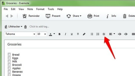 How to Easily Turn a Normal List Into a Checklist in Evernote | Cibereducação | Scoop.it