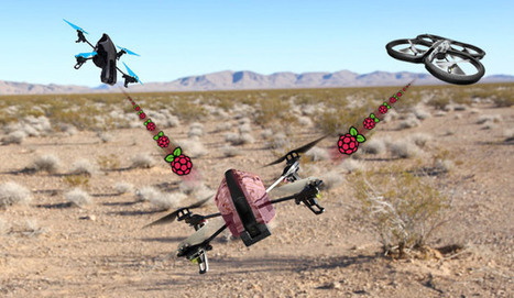 Raspberry Pi-equipped AR Drone can hijack other