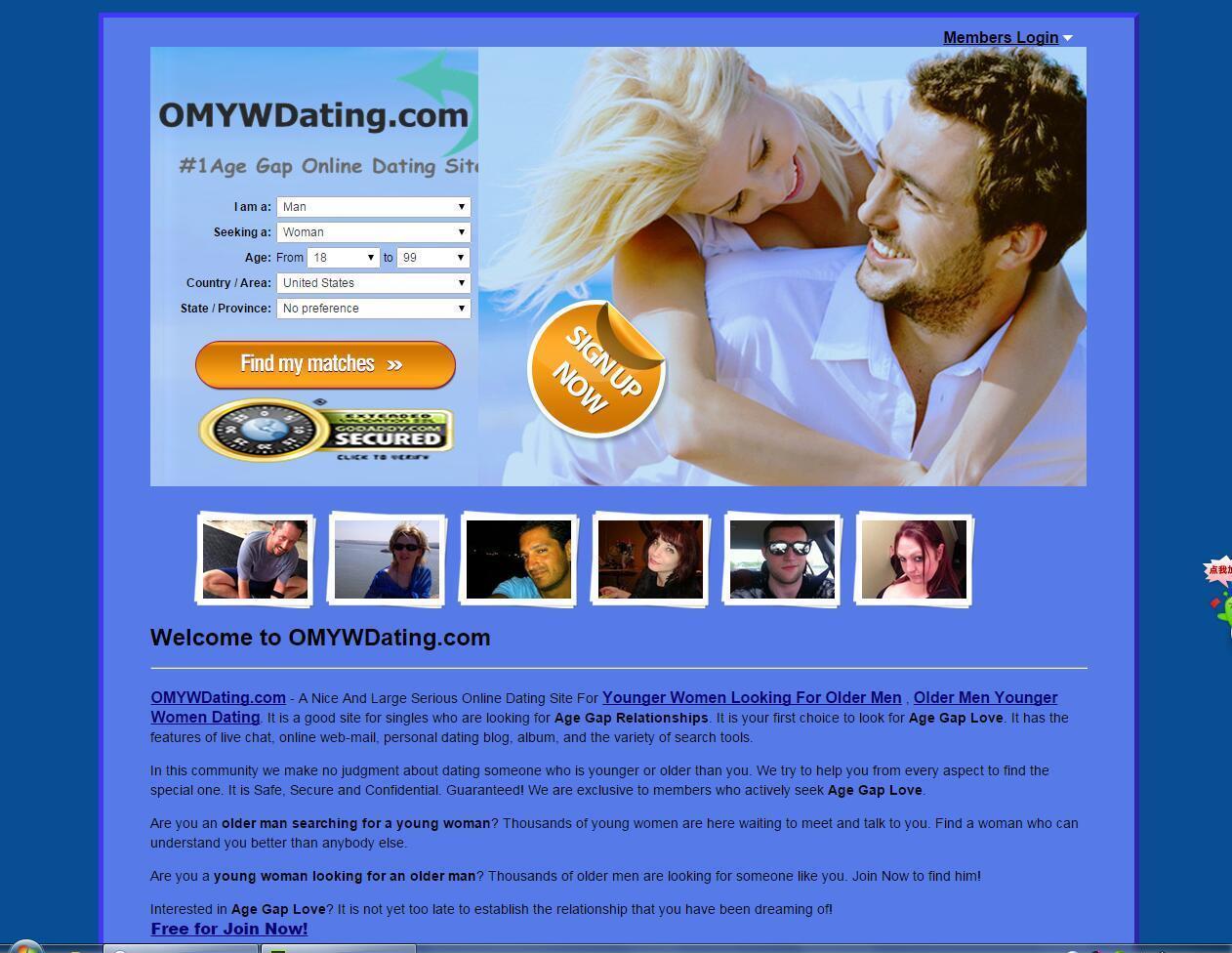 dating site women seeking older men