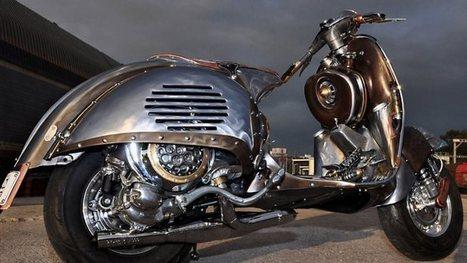 Guardian, Astonishing Steampunk Vespa by Pulsar Projects | Vespa Stories | Scoop.it