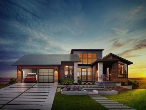 Le toit solaire de Tesla veut marier esthétisme et performance | D'Dline 2020, vecteur du bâtiment durable | Scoop.it