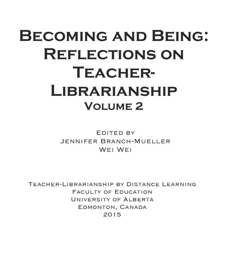 Becoming and Being: Reflections on Teacher-Librarianship Volume 2 (pdf) | Student Learning through School Libraries | Scoop.it