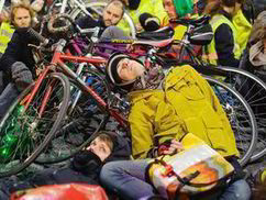 Cyclists lie outside Transport for London (TfL) headquarters to protest road ... - Express.co.uk | Bicycle advocacy | Scoop.it