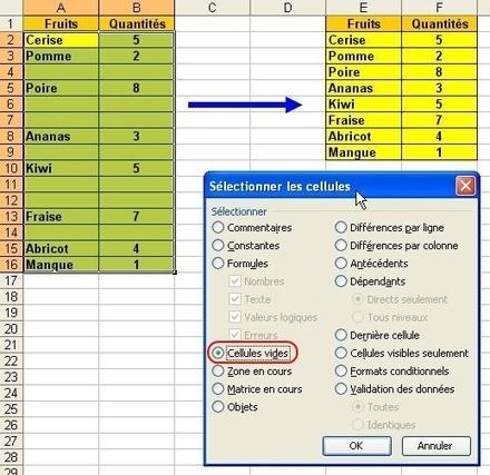 Effacer des lignes vides dans un tableau Excel. | Time to Learn | Scoop.it