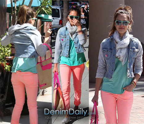 Jessica Alba In AG Jeans and JET by John Eshaya | Denim Daily | Denim Daily | Scoop.it