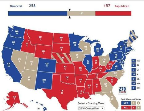The Politicus Presidential Projection Map For November 6, 2016 | LibertyE Global Renaissance | Scoop.it