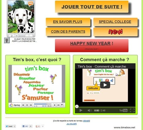 TIMSBOX - jeux anglais - learn english the fun way | UpTo12-Learning | Scoop.it