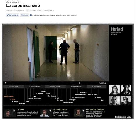 Le corps incarcéré | LeMonde.fr | 9m² | Scoop.it