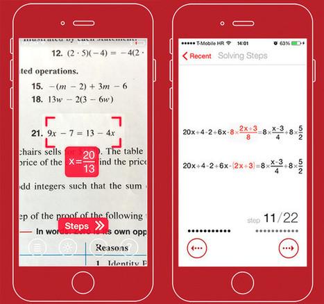 PhotoMath nos ayudará a resolver problemas matemáticos con la cámara de nuestro smartphone.- | Matemáticas.- | Scoop.it
