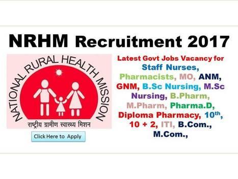 NRHM Recruitment 2017 2018 - Latest NRHM Jobs N... on physics jobs, railway jobs, law jobs, hr jobs, industry jobs, english jobs, church jobs, private sector jobs,