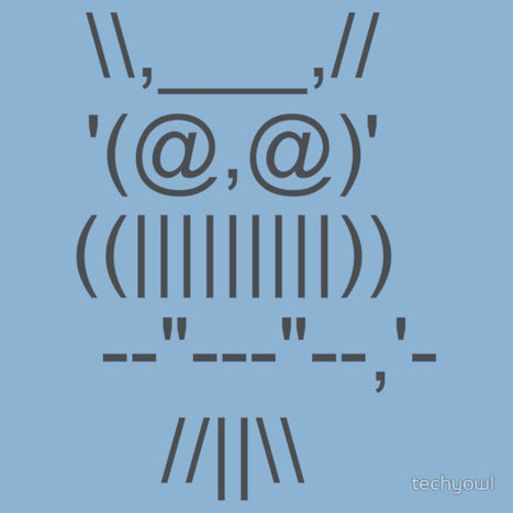 ASCII OWL by techyowl | ASCII Art | Scoop.it