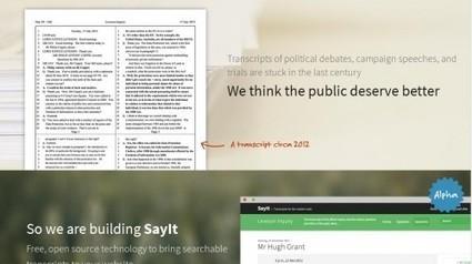 SayIt, una herramienta cívica para transcripciones | @pciudadano | Periodismo Ciudadano | Scoop.it