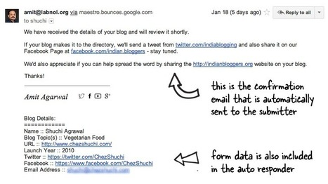 How to Send Confirmation Emails with Google Forms | Technology in Education | Scoop.it