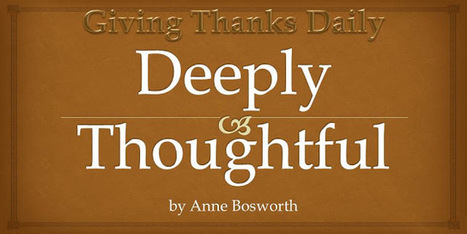 Giving Thanks Daily: Forgiveness - Deeply Thoughtful by Anne Bosworth | Reading, Writing, and Thinking | Scoop.it