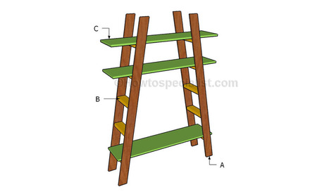 How to build ladder shelves | HowToSpecialist - How to Build, Step by Step DIY Plans | Diy Furniture Plans | Scoop.it