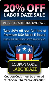 Reminder - E-liquid Labor Daze Sale Ends Soon | Halo Cigs | E-Cigarettes | Halo Cigs | Scoop.it