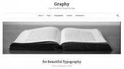 Graphy Free WordPress Theme | Free & Premium WordPress Themes | Scoop.it