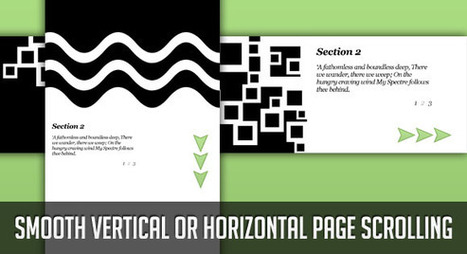 Smooth Vertical or Horizontal Page Scrolling with jQuery | Codrops | Basics and principles for a good  Web Design | Scoop.it
