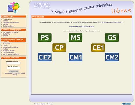 Edulibre : Portail d'échange de contenus pédagogiques libres | ENT | Scoop.it