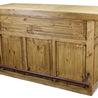 Rustic Wood Bar And Iron Foot Rail