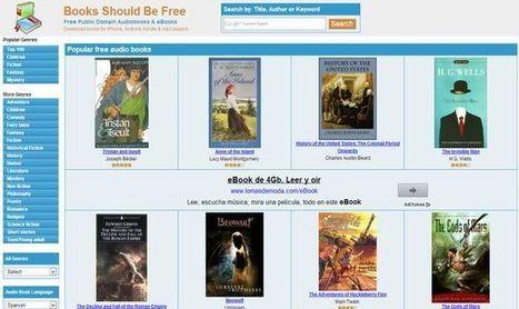 Books Should Be Free, miles de audiolibros gratuitos para descargar o escuchar online | E-Learning, M-Learning | Scoop.it