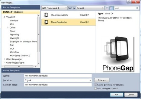 Tutorial: how to create HTML5 applications on Windows Phone thanks to PhoneGap - David Rousset - Site Home - MSDN Blogs | onDev | Scoop.it