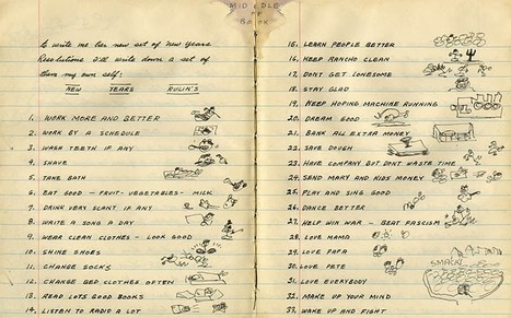 Famous Resolution Lists: Jonathan Swift, Susan Sontag, Marilyn Monroe, Woody Guthrie | @FoodMeditations Time | Scoop.it
