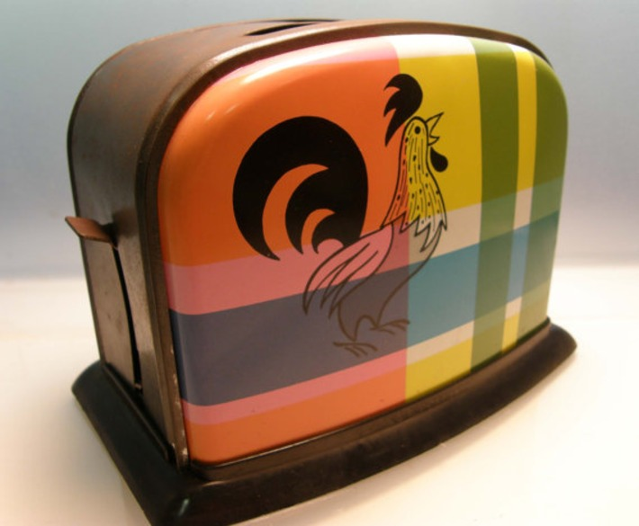 1950's Plaid Rooster Child's Play Toaster | Kitsch | Scoop.it