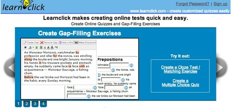 Create Cloze Tests (Gap-Filling Exercises) and Online Quizzes | Teaching L2 Reading | Scoop.it