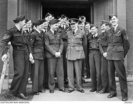 Arthur Harris visiting 460 Squadron members | 460 Squadron - Bomber Command: 1942-45 | Scoop.it