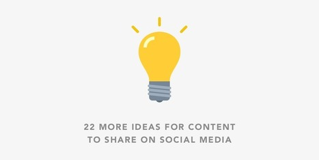 22 More Ideas for Content to Share on Social Media | Social Media Products and Tools | Scoop.it