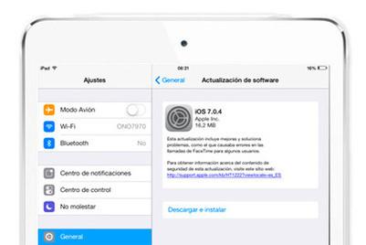 iOS 7.0.4 disponible para iPhone y iPad | Antonio Galvez | Scoop.it