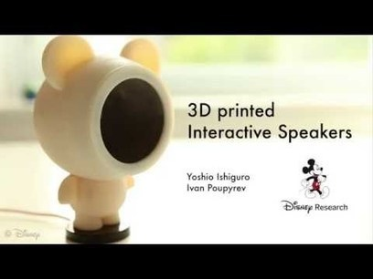 Disney Researchers Can 3D Print Speakers Into Any Object | 3D-Print Tech | Scoop.it
