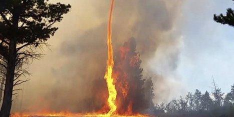 Un pompier américain filme une immense tornade de feu | AmeriKat | Scoop.it