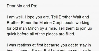 Farm Kid Writes Home After Joining The Marines. This Is Priceless.   Criminology and Economic Theory   Scoop.it