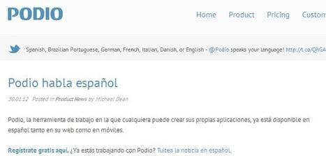 Servicio para crear aplicaciones iOS o Android sin saber programar y ahora PODIO habla español | Diginota | Nuevas tendencias | Scoop.it