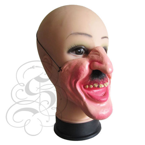 Half Face Hairy Nose Funny Faces Mask