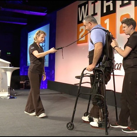 "Watch: Ekso Bionics exoskeleton allows paralysed man to walk at Wired 2012 (Wired UK) | L'impresa ""mobile"" 
