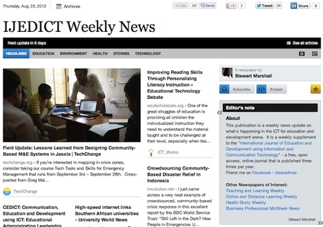 Aug 23 - IJEDICT Weekly News is out | Studying Teaching and Learning | Scoop.it