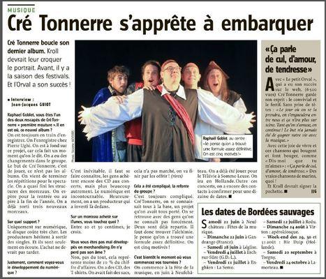 Cré Tonnerre s'apprête à embarquer  L'info sur lavenir.net – L'actu 24h/24, 7 jours sur 7 - | Cré Tonnerre | Scoop.it