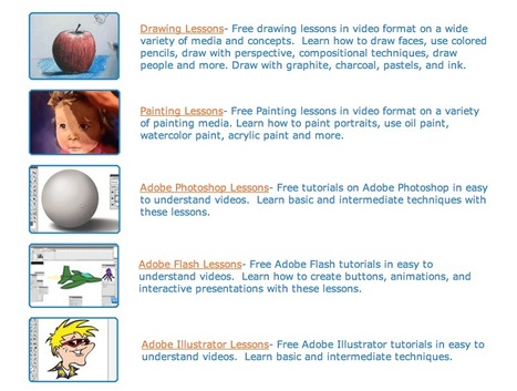 Free Art Lessons and Tutorials - TheVirtualInstructor.com | teaching with technology | Scoop.it