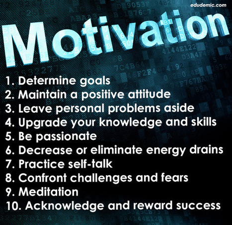 10 Secrets To Staying Motivated - Edudemic | APRENDIZAJE | Scoop.it