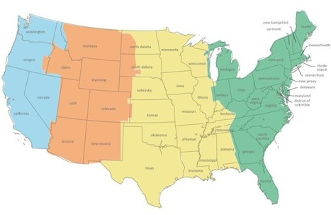 US Time zone map | Great Little Web Apps | Sco...